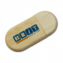 USB Wood Eco Drive Round