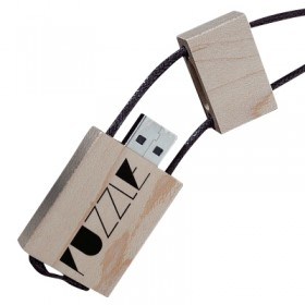 USB Wood Necklace